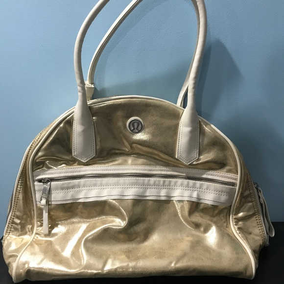 0557b4dfcd lululemon athletica Bags | Gold Lululemon Gym Bag | Poshmark